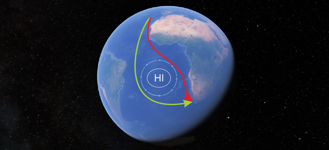 St. Helena High pressure system